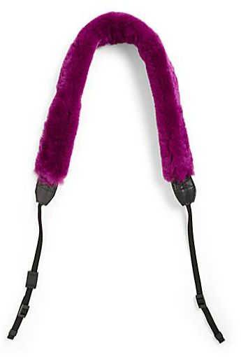 Bryan Boy for Adrienne Landau  Rex Fur Camera Strap