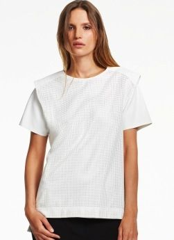 Kenneth Cole Kenneth Cole Caelyn Perforated T-Shirt