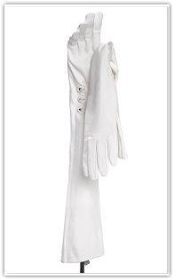 Carolina Amato Carolina Amato Leather Opera Length Debutante Gloves