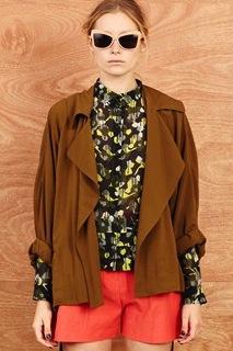 Karen Walker  Karen Walker Cropped Summer Underground Coat
