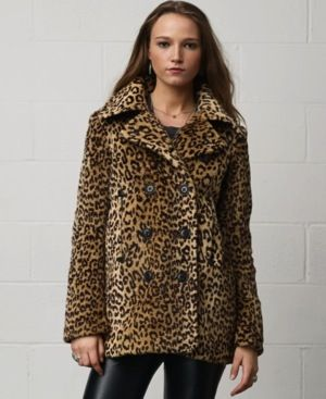Denim & Supply Ralph Lauren  Animal-Print Peacoat