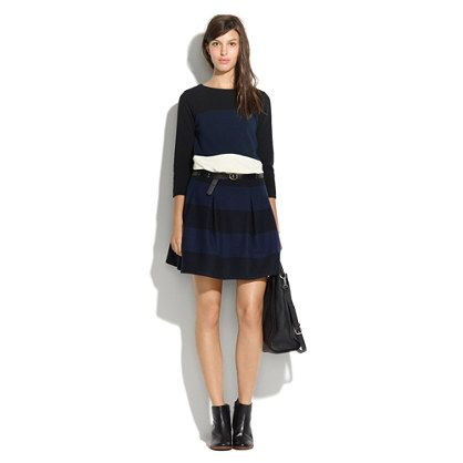 Madewell   Madewell Striped Pleat Skirt