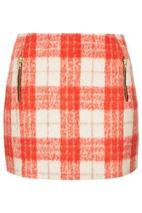 Topshop   Topshop Wool Check Skirt