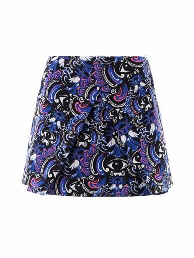 Kenzo  Kenzo Temple-Eyed Jacquard Skirt