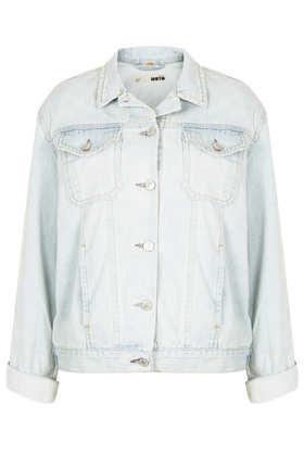 Topshop  Moto Ice Blue Oversize Jacket