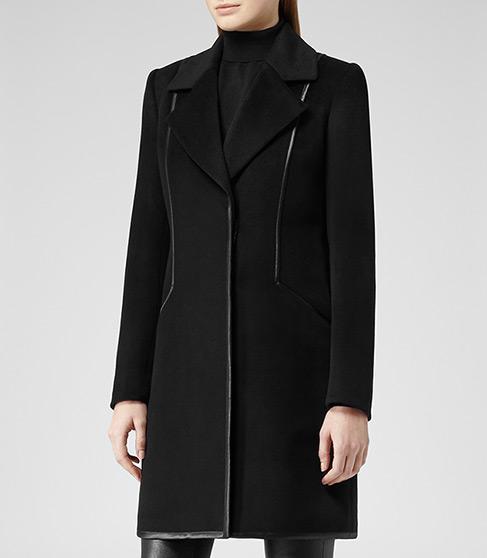 Reiss  Reiss Berwick Contrast Trim Coat