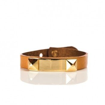 Linea Pelle  Linea Pelle Grayson Stackable Bracelet With Metal Plate