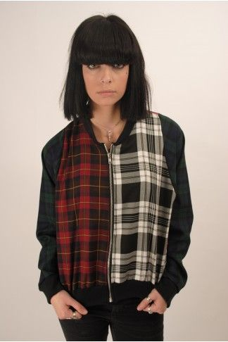 The Ragged Priest  Misha Tartan Bomber