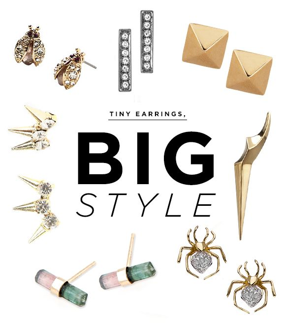 The Coolest Tiny Earrings to Mix and Match