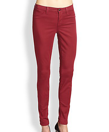 J Brand Mid-Rise Super Skinny Sateen Jeans
