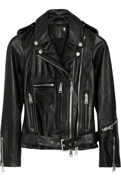 R13  Textured-Leather Biker Jacket
