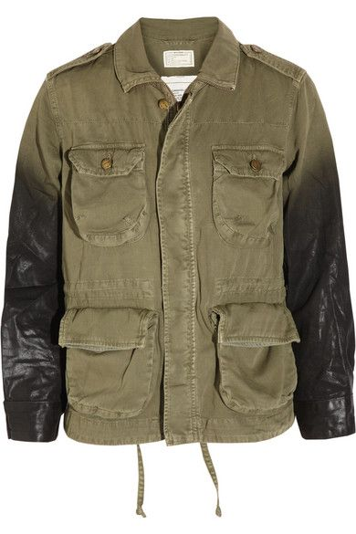 Current/Elliott  The Lone Soldier Coated Cotton Jacket