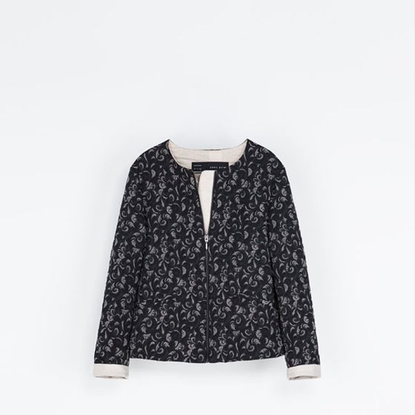 Zara  Quilted Jacquard Jacket