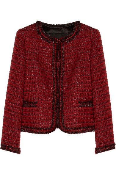 Alice + Olivia  Kidman Metallic Tweed Jacket