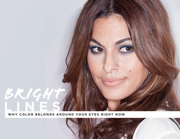 Nine Ways to Wear Bright Eyeliner