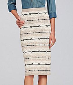 Chelsea & Violet Tribal-Print Jacquard Skirt