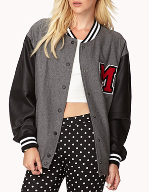 Forever 21 Wool-Blend Varsity Jacket