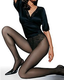 Hanes Hanes French Lace Panty Control Top Sheer Pantyhose