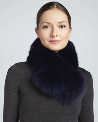 Adrienne Landau Adrienne Landau Bryan Boy Pull-Through Fur Scarf