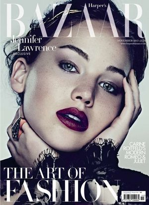 Jennifer Lawrence gets vampy for Harper's Bazaar UK