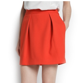 Mango Pleated Miniskirt
