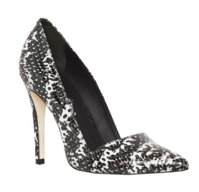 Alice + Olivia  Dina Optic Snake Print Leather Heels