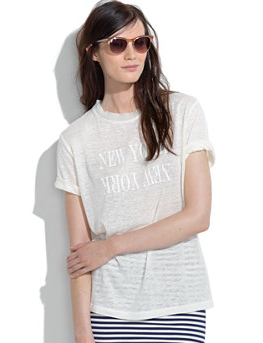 Madewell  Linen New York New York Tee Shirt