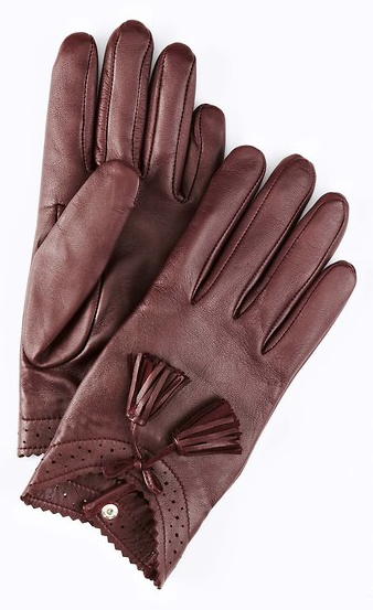 Ann Talyor  Varick Tassel Leather Gloves