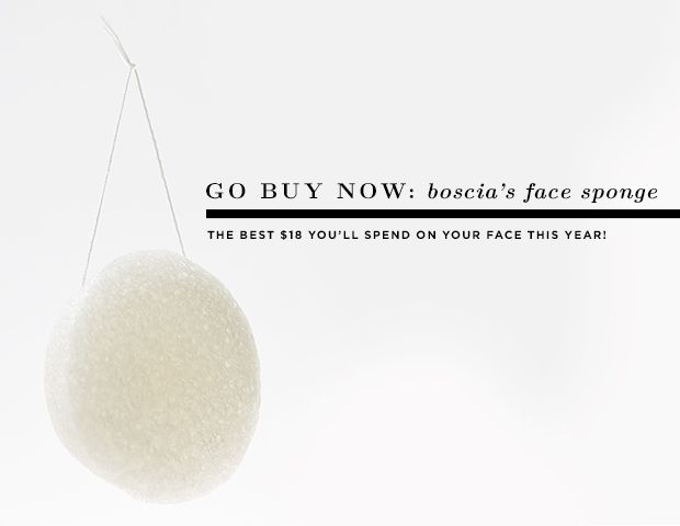 Go Buy Now: Boscia's Konjac Cleansing Sponge