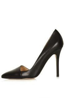 Topshop  Great Leather Asymmetric Court Shoes