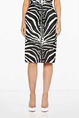 Carven  Satin Pencil Skirt