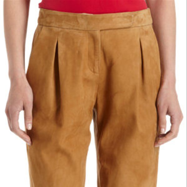 Holmes & Yang  Cropped Suede Trousers