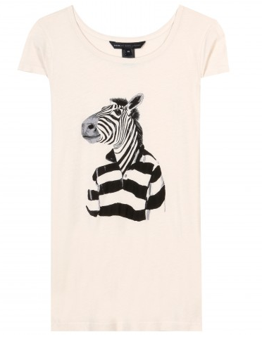 Marc by Marc Jacobs  Mr. Zebra Print T Shirt