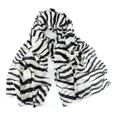 Black.co.uk  Ebony and Ivory Cashmere Scarf