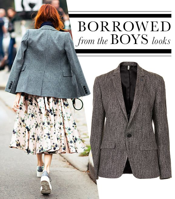 6 Chic Looks That Borrow from the Boys