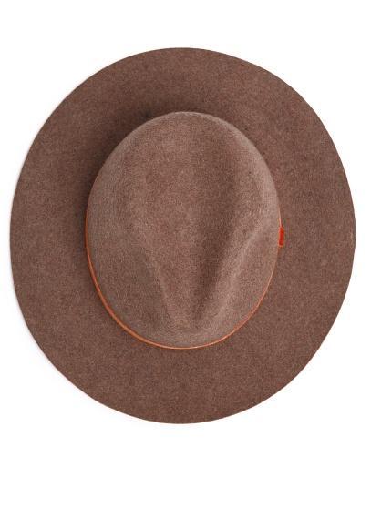 Mango  Velvet Ribbon Wool Fedora