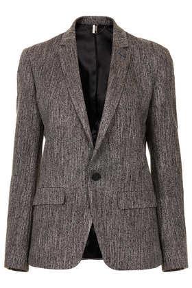 Topshop  Topshop Modern Tailoring Herringbone Slouch Blazer (