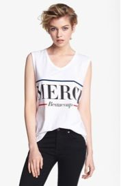 Lovers + Friends  Merci Muscle Tee