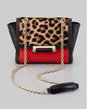 Diane von Furstenberg  440 Mini Leopard Haircalf Bag