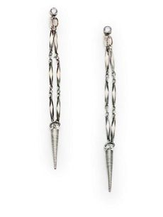 Bing Bang Bing Bang Front-To-Back Spike Drop Earrings