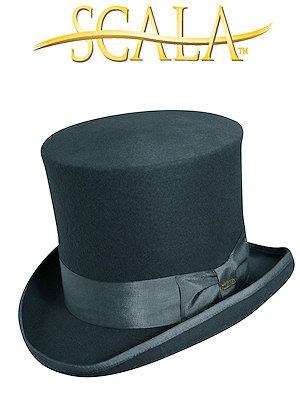Scala Scala Wool/Felt Top Hat Wool