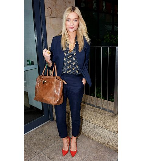 Laura Whitmore  Even shorter women can pull off a cropped trouser leg; just note how the Irish TV presenter paired her suit with a classic pump, which lengthens the leg by exposing the top of...