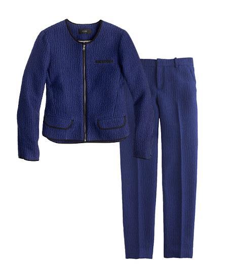 J.Crew  Cobalt Tweed Jacket & Pant
