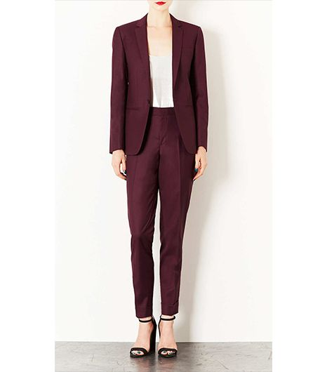 Topshop Modern Tailoring Tailored Suit Blazer And Turn Up Trousers ($200)