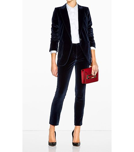 Vanessa Bruno  Velvet Suit Jacket & Trousers
