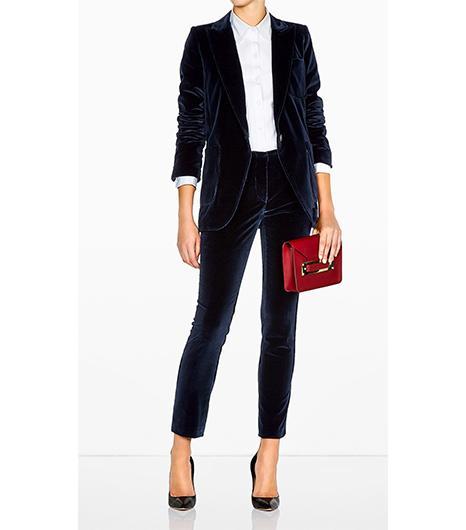 Vanessa Bruno Velvet Suit Jacket ($564);Vanessa Bruno Velvet Suit Trousers ($406).