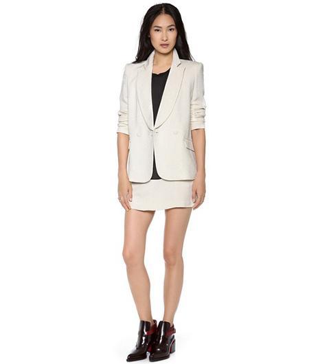 Theyskens' Theory Jousse Blazer ($795);Theyskens' Theory Suitry Skirt ($345).