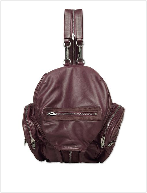 Marti Backpack ($850) in Burgundy
