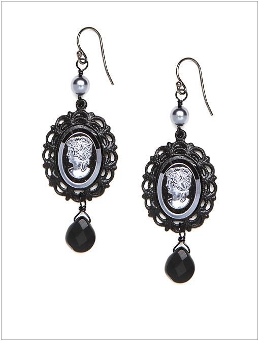 Black Widow Drop Earrings ($62)