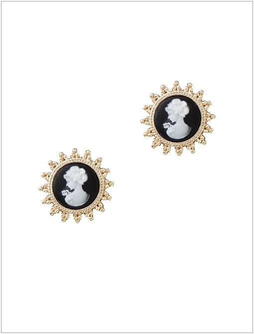 Cameo Stud Earrings ($28)